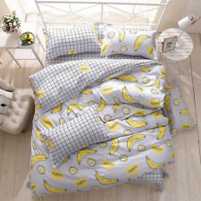 Tropical Fruits Duvet Cover Pillow Case Cartoon Quilt Cover Bedding Set All Size