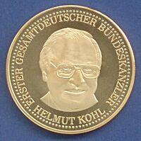 Medaille Einigkeit Recht Freiheit Helmut Kohl Kanzler Deutschland Ø 39 mm B70/08