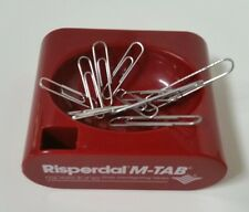 Risperdal Paper Clip Holder, Magnetic Plastic Tray, Red Advertising Piece