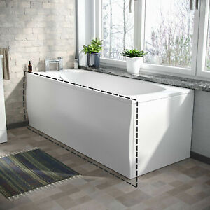 Zante White Modern High Gloss Acrylic Front 550mm high Bath Panel