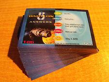 BABYLON 5 SPECIAL EDITION SET OF 36 TRIVIA CARDS