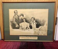 Champagne Louis Roederer Art Print - Retro Vintage Wine Framed
