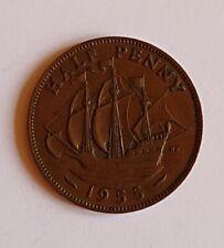 1955 UK/British Half Penny Coin - Elizabeth II - Free P&P