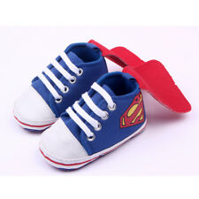 Niño Bebé Infantil Sofe Suela Superman Batman Zapatos Cuna Antideslizantes