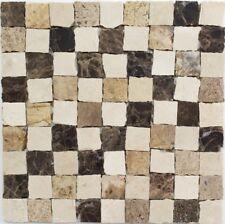 Marmormosaik Mix Beige braun/beige/creme Fliesenspiegel Art:42-M-Vh021 |10Matten