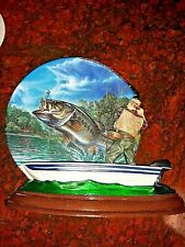 BRADFORD EXCHANGE 3D FISH PLATE, FISH TALES, 1st ISSUE, SUDDEN STRIKE