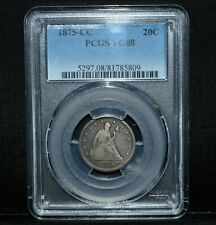 1875-CC 20 CENT PIECE ✪ PCGS VG-8 ✪ 20C SILVER VERY GOOD 08 CARSON CITY◢TRUSTED◣