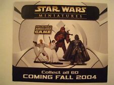 STAR WARS MINIATURES Wizards Of The Coast 2004 Promotional Flyer 2004 SDCC