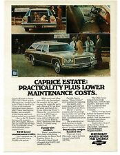 1975 Chevrolet Chevy CAPRICE ESTATE Station Wagon VTG PRINT AD