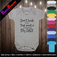 Baby Grow - Smell is Dad Gift Funny Christening Shower Present Vest Boy Girl