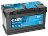 Exide EFB EL752 75Ah Start-Stopp Autobatterie *sofort einsatzbereit