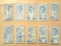 1950 Carreras  FAMOUS CRICKETERS cricket set 50 Tobacco Cigarette Turf cards
