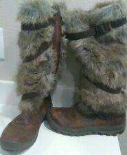 Timberland 1623R Earthkeepers Mount Holly Knee-High Leather Faux-Fur Womens Boot