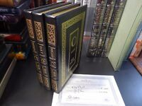 Easton Press THE NIGHT TRILOGY Elie Wiesel 3 vols. SIGNED COA Literature Leather