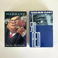 Warrant - Lot of 2 Cassettes - I Saw Red (single) - Dirty Rotten Filthy Stinking