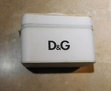 827  Dolce & Gabbana White Make Up Cosmetic Jewelry Train Case Box