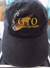 G T O Dominican Cigar Black Adjustable Baseball Cap Hat! Unusual