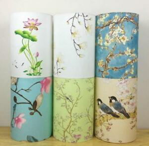 Vintage Retro Lampshade Floral Bird Leaves Lamp Shade Table Ceiling Light Cover