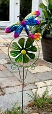 Metal Garden Decor 24� Dragonfly Yard Art Pond Lawn Ornament Stake Pick Pinwheel