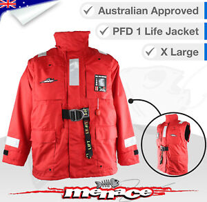 XLARGE Inflatable Life Jacket Stormy Weather PFD Boating Yachting Self Inflating