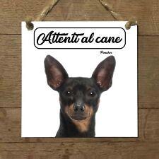 Pinscher MOD 1 Attenti al cane Targa cane cartello ceramic tles
