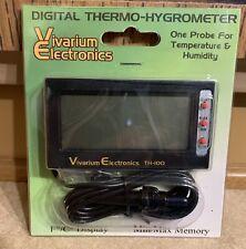 V.E. Th-100 thermometer/Hygrometer reptiles Vivarium Electronics Lizard Gecko