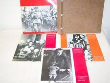 4 politische DDR Schallplatten für Schule Schola Thälmann Dimitroff Pieck Krieg