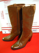 Bandolino Brown Leather Zip Knee High Boots Women Size 8.5