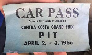 April 1966 CONTRA COSTA GRAND PRIX Auto Race SCCA CAR PASS, California DECAL