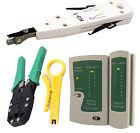 Network LAN Kit RJ45 Cat5e RJ11 PC Cable Tester Ethernet Crimper Punch Down Tool