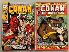 CONAN THE BARBARIAN #10 & #11  BRONZE AGE BOTH GIANT SIZE ISSUES NICE CONDITION
