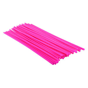 BICYCLE SPOKE COVERS BK-OPS 300mm NEON PINK 36pc
