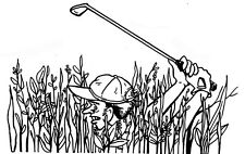 Unmounted Rubber Stamps, Sports Stamp, Golfing, Golf, Golfer in the Weeds, Humor