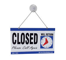 Window Sign Reversible Open Sign Closed Sign Door Sign Suction Cup Chain Board