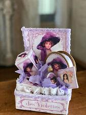 Vintage Miniature Dollhouse Artisan Display Box Ladie 00001Dca s Lavender Vanity Items