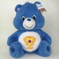"Care Bears Champ Blue Plush Jumbo 20"" Trophy 2015 Just Play"