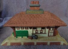 Partylite Whistle Stop Train Station Porcelain Tealight Candle Holder House