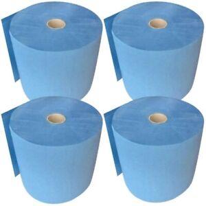 4 Rollen Putztuchrollen blau Putzpapier 3 lagig 26x35cm ✔ KFZ-Werkstatt ✔ FEBLUE