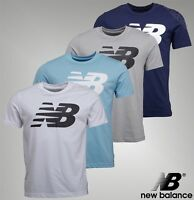 Mens New Balance Printed Logo Short Sleeve Jersey T Shirt Sizes from S to XXL