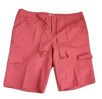 LIZ & CO Bermuda Cargo Shorts Stretch Peach Womens Sz 16 XLarge XL