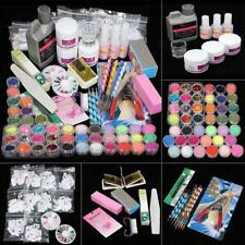 New Acrylic Powder Glitter Nail Brush False Finger Pump Nail Art Tool Kit Set FT