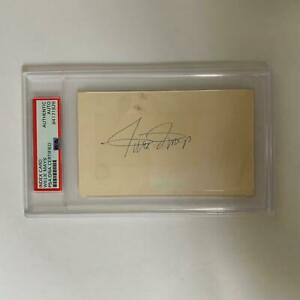 Willie Mays Signed Autographed Vintage Index Card PSA DNA COA
