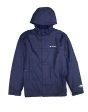 Columbia Mens Jacket Blue Size Large L Windbreaker Waterproof Hooded $90 785