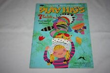 Play Hats Press Out Book 1968 Whitman Pub 7 Fun Hats Easy to do Pieces Very Good