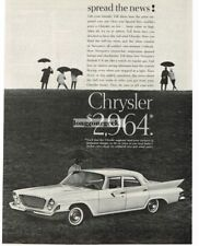 1961 Chrysler Newport White 2-door Coupe  In The Rain Vtg Print Ad