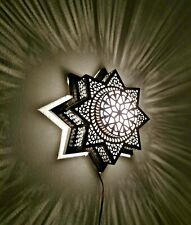 "BM20 14""DIA Moroccan Star Flush Ceiling LED Light Fixture Chandelier/Wall Sconce"