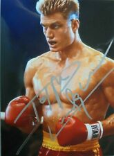 "Dolph Lundgren orig. Autogramm "" ROCKY "" Motiv 13x18   Drago"