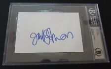 Jack Johnson FULL NAME Signed Autographed 4X6 Index Beckett Certified Slabbed