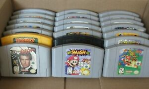 ✅ Nintendo 64 N64 Video Games Lot Mario Kart Super Mario Donkey Kong 007 Bundle