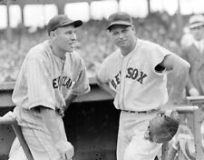 JIMMIE FOXX & HAL TROSKY 8X10 PHOTO BOSTON RED SOX INDIANS BASEBALL PICTURE MLB